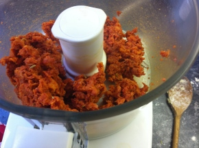 Step 1. Take skin of the chorizo and mix in food processor with teaspoon of fennel seeds